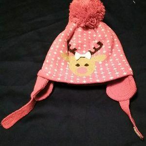 Super cute hat & mitten set